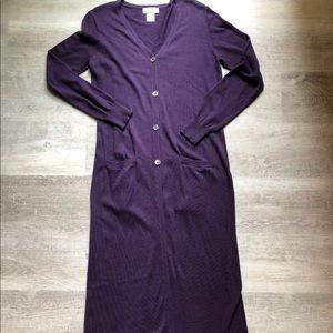 Spiegel long duster cardigan size S